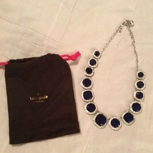 Kate Spade Navy and crystal necklace silver links